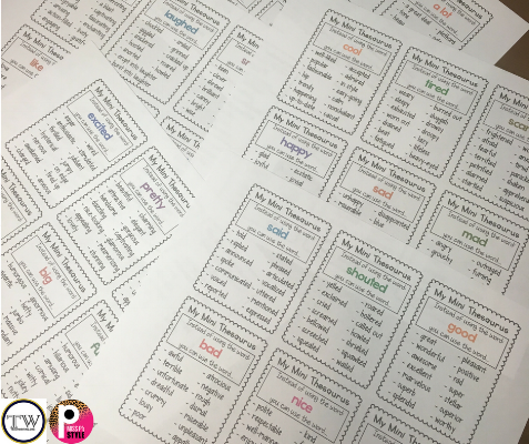 Super-Mini Anchor Charts save a TON of space in notebooks and allow for more student writing space! 6 mini charts are on a page so it will take 4 sheets of paper to provide charts to 24 students!