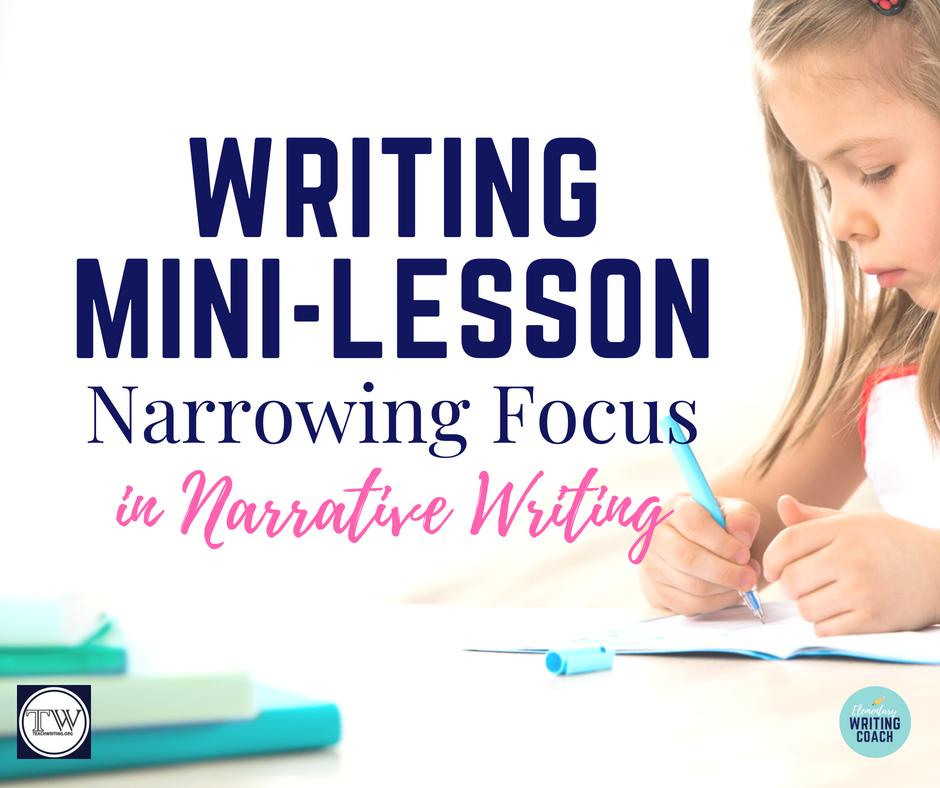 narrative writing mini lessons 5th grade