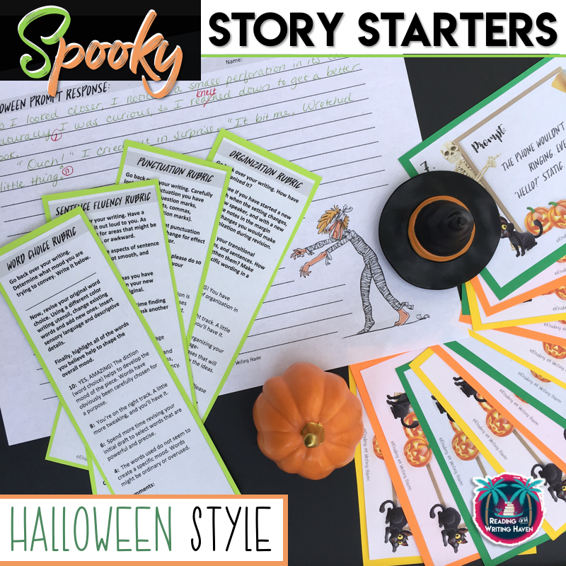 Spooky Halloween writing prompts for middle and high school