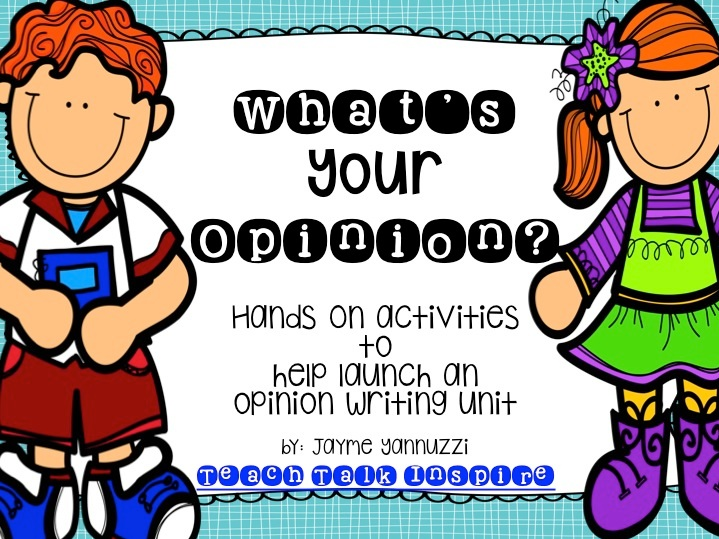 Activities to help launch any opinion writing unit