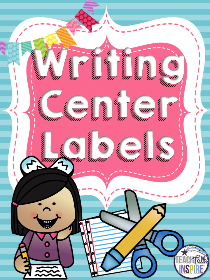 FREE Writing Center Labels for Your Writing Center