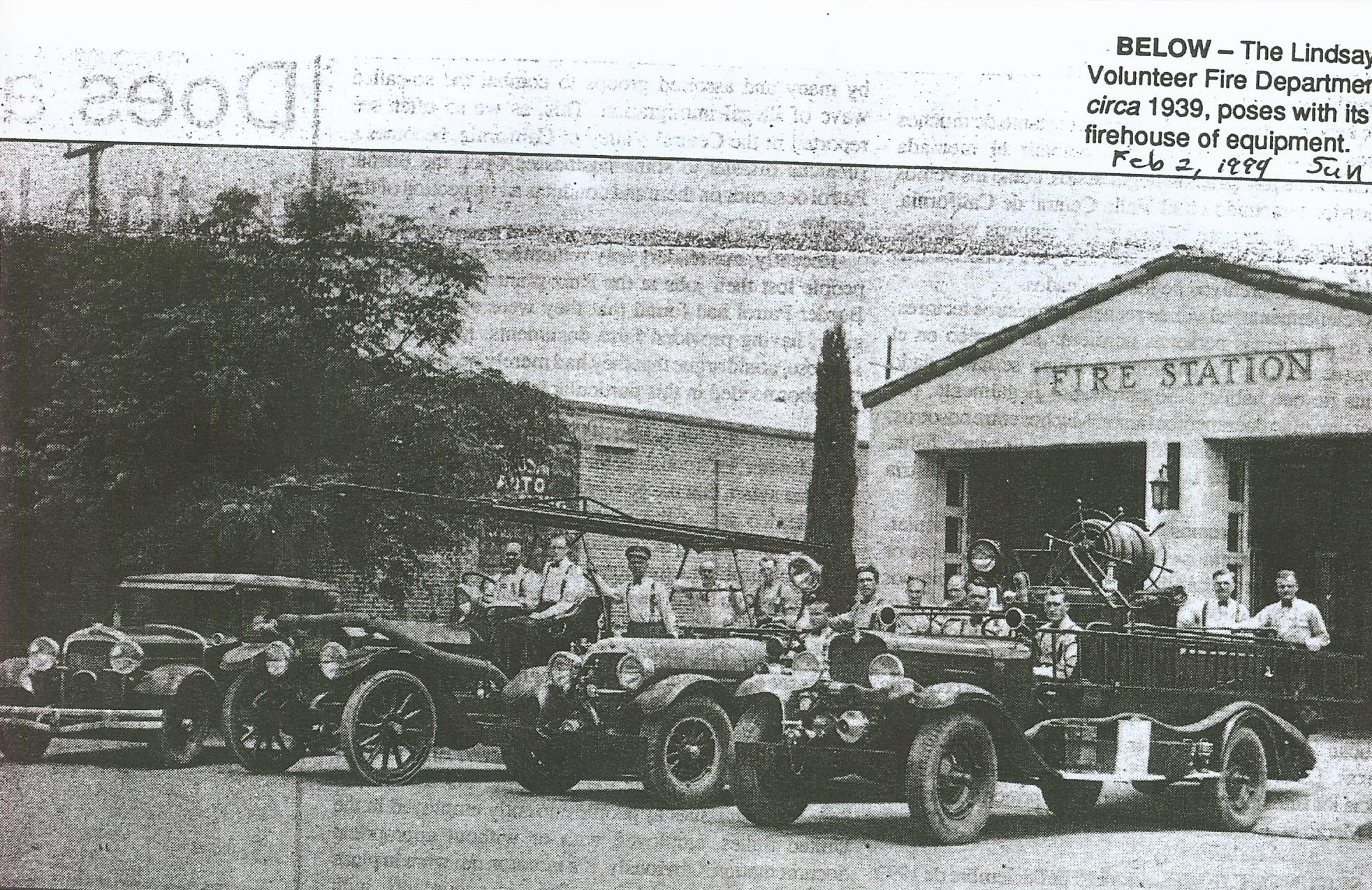 Lindsay fire department 1930's.jpg