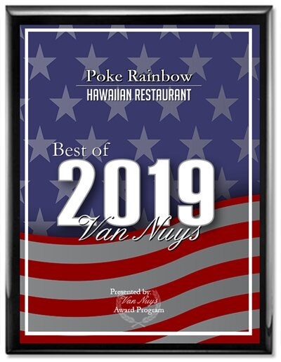 Poke Rainbow Receives 2019 Best of Van Nuys Award -