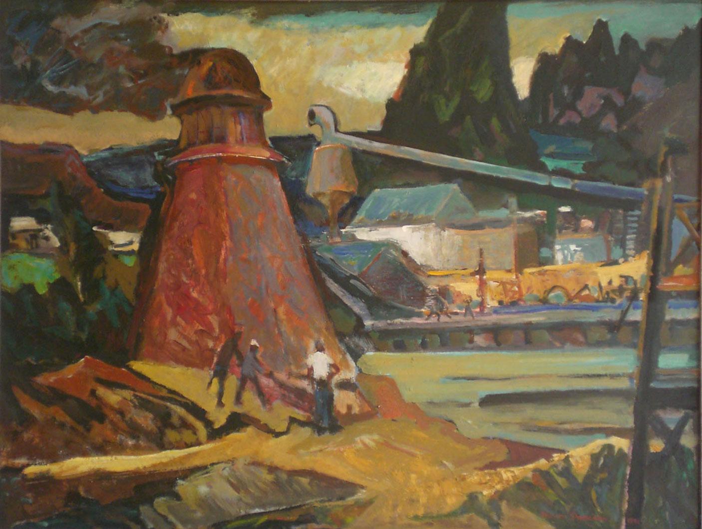 Mill at Wren,  oil, 51x39 $4,500  Nelson Sandgren