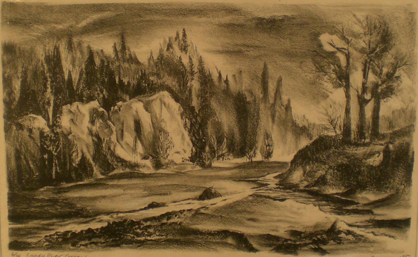 Sandy River , print  Pathways Original Print Collection