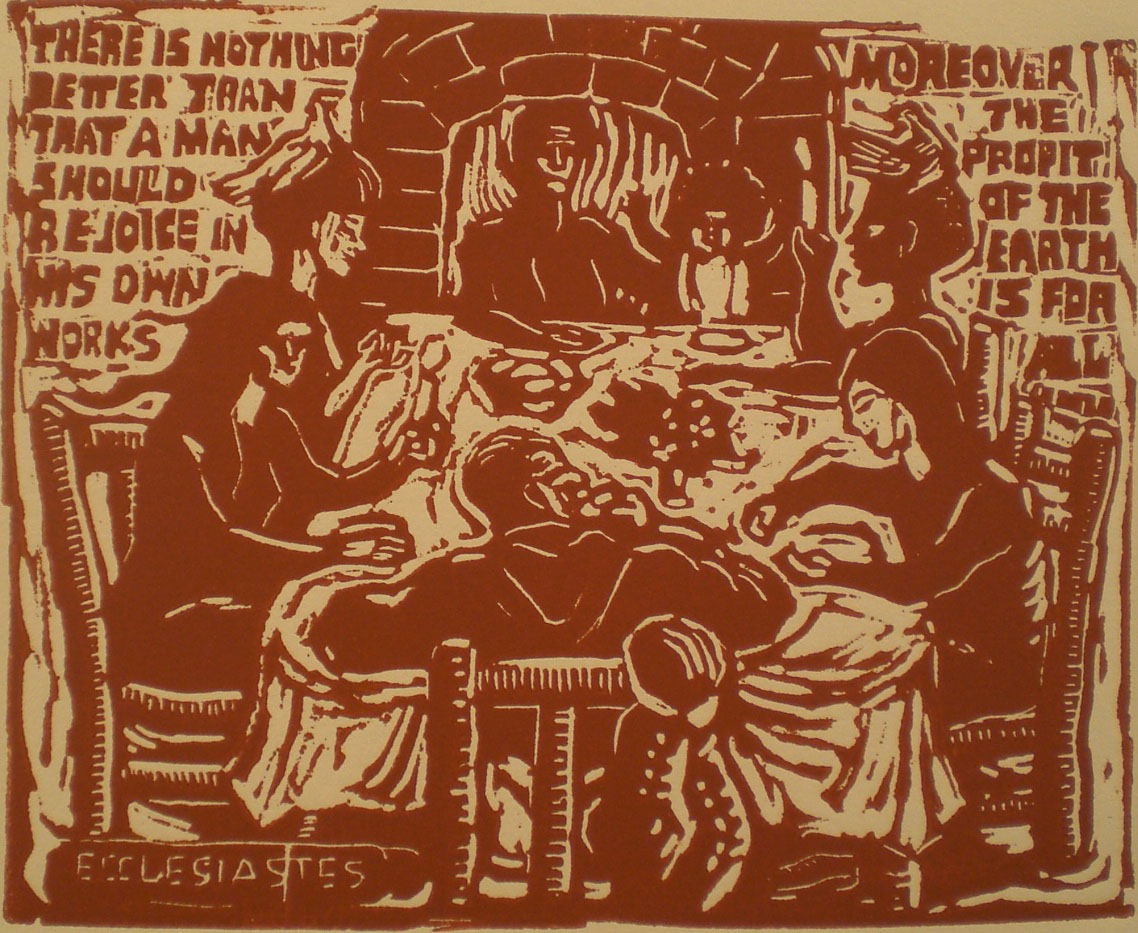 Ecclesiastes, Profit of the Earth is for All – Shared Dinner , print, 11x9  Pathways Original Print Collection