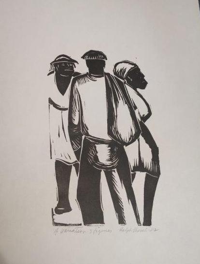 Four Variations On Three Figures , print  Pathways Original Print Collection
