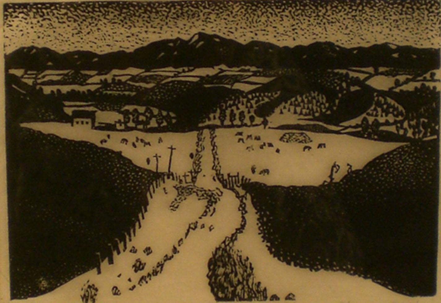 Blue Mountain Community,  print, 18 ½ x15 ¾  Pathways Original Print Collection