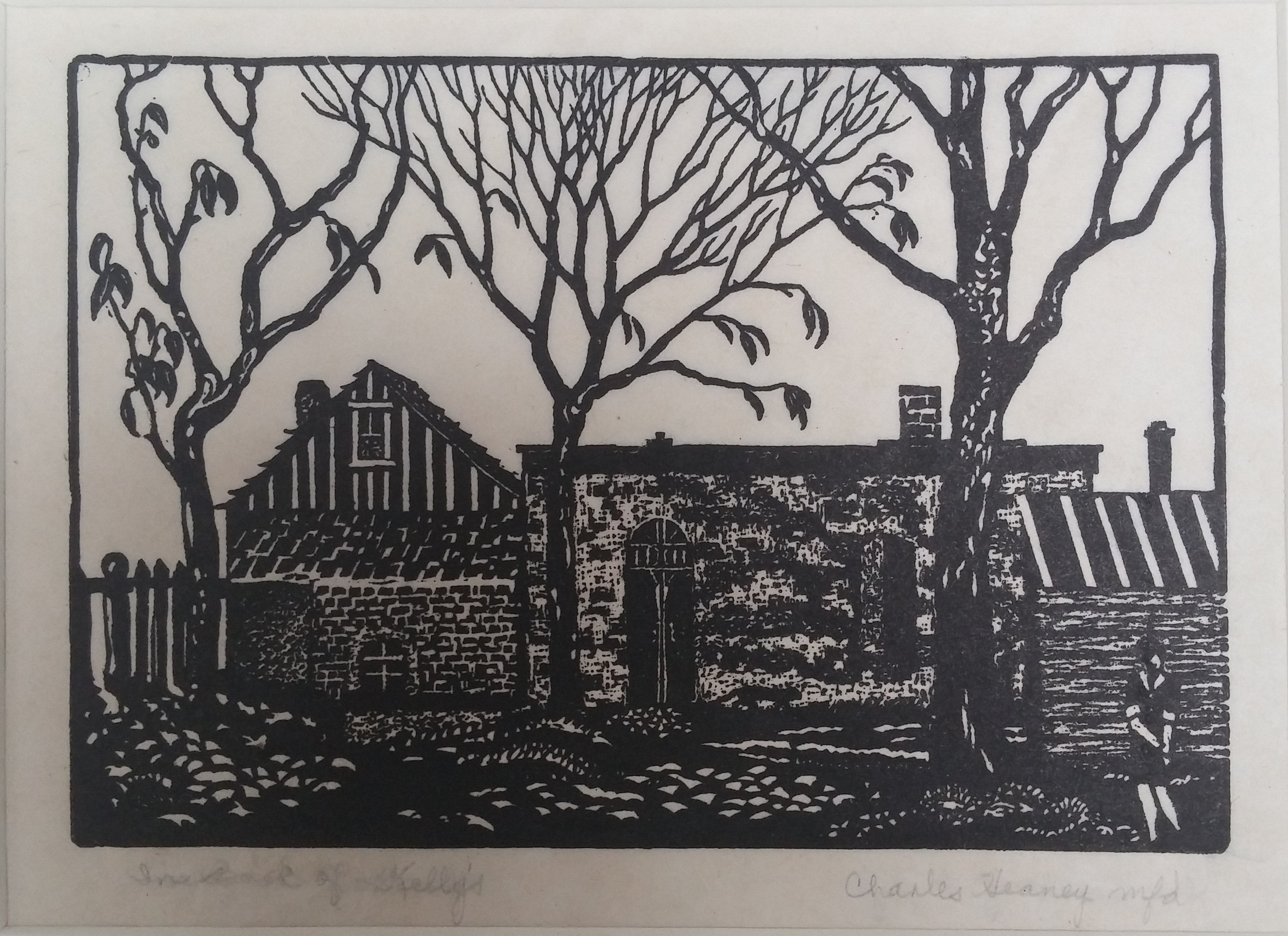 In Back of Kellys , print, 18 x 16 ½ Unframed  Pathways Original Print Collection
