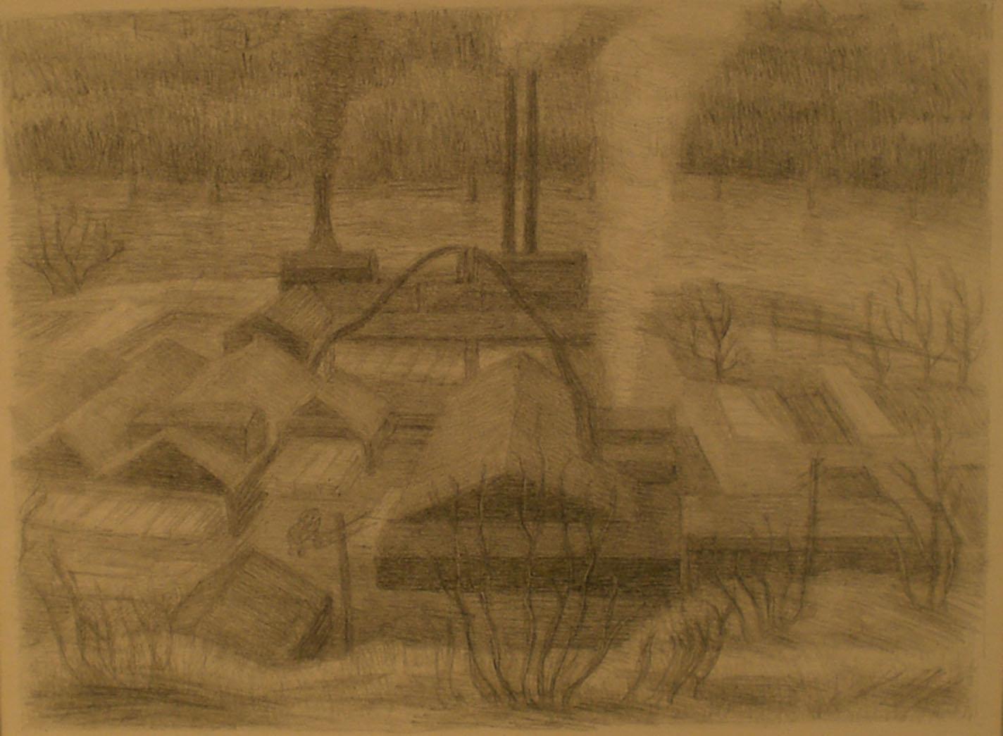 Saw Mill , print, 18 ¼ x 15 ¾  Pathways Original Print Collection