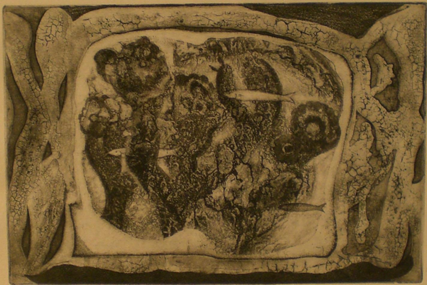Aquarium , print, 19 ½ x 16  Pathways Original Print Collection