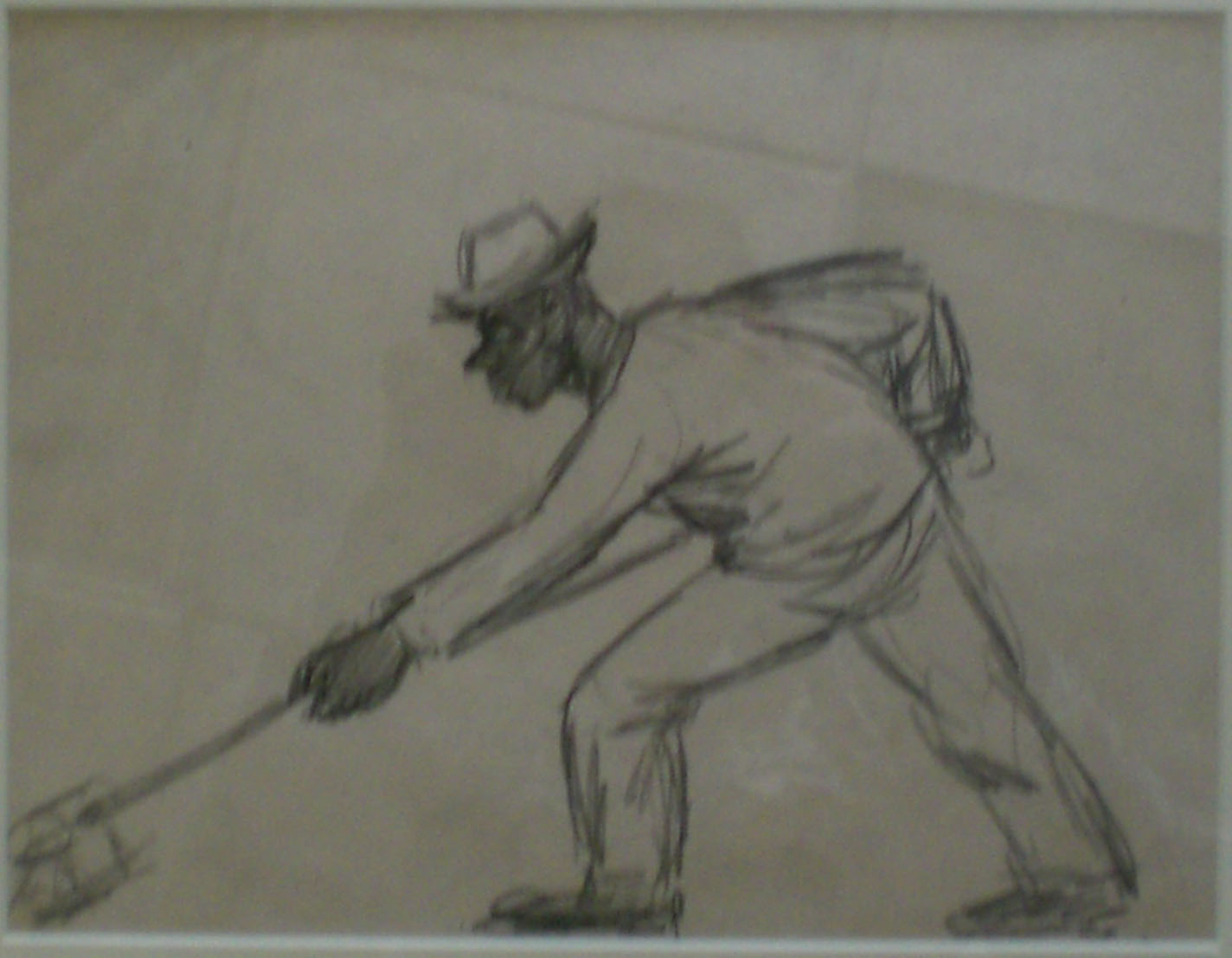 Shipyard Worker I , pencil sketch, 14x17  Pathways Private Collection