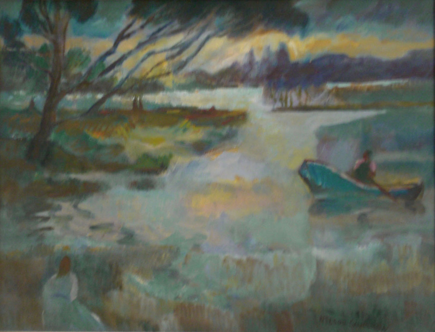 Solitude,  oil, 22x22 NFS  Nelson Sandgren