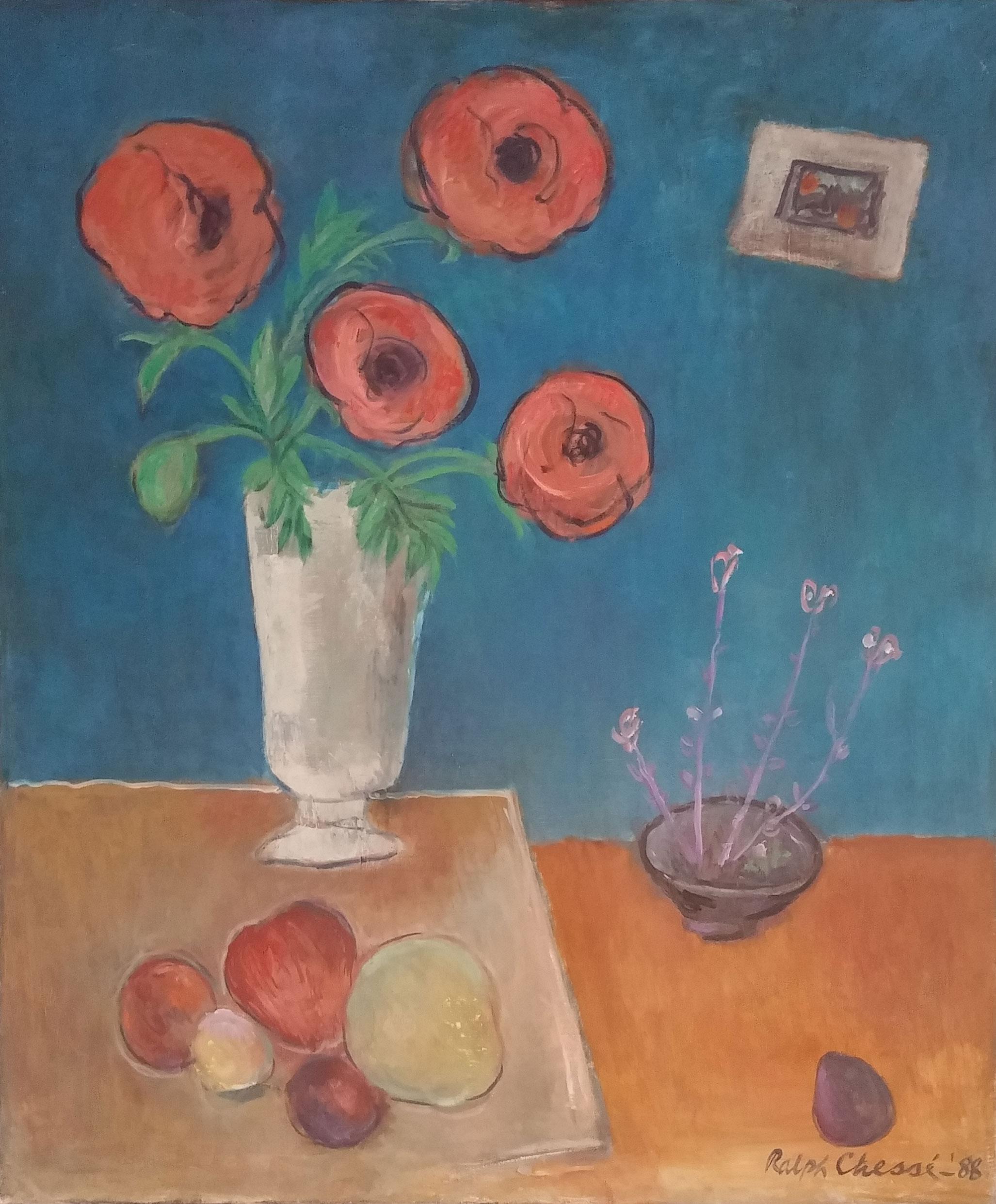 Still Life, oil, 34x40 $9,000  Ralph Chesse
