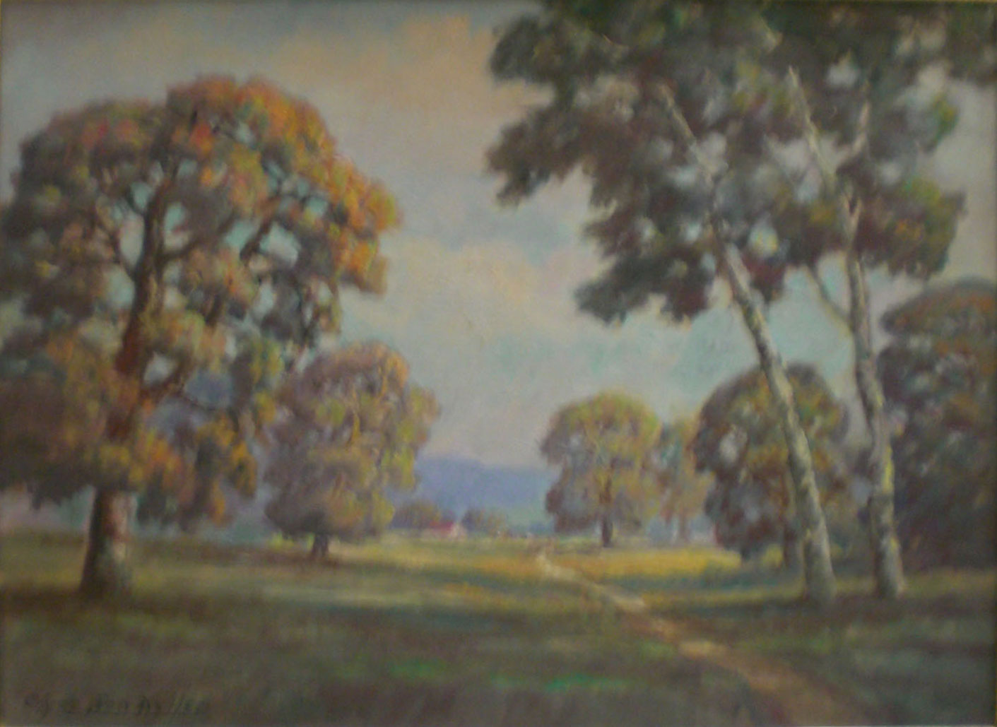 Walking Path , oil, 27x20  Pathways Private Collection