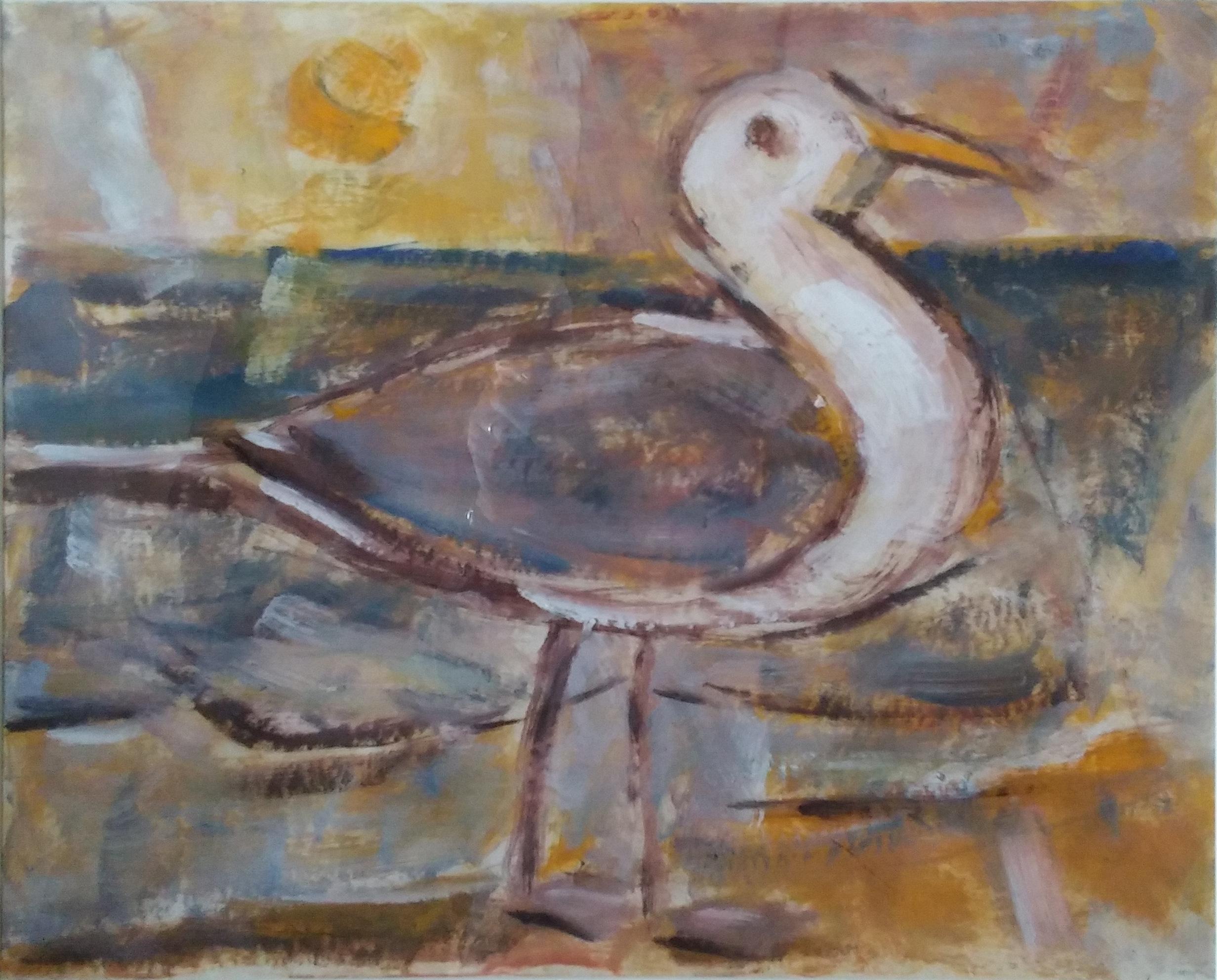 Seagull,  water color, 18x14 NFS  Arthur Runquist