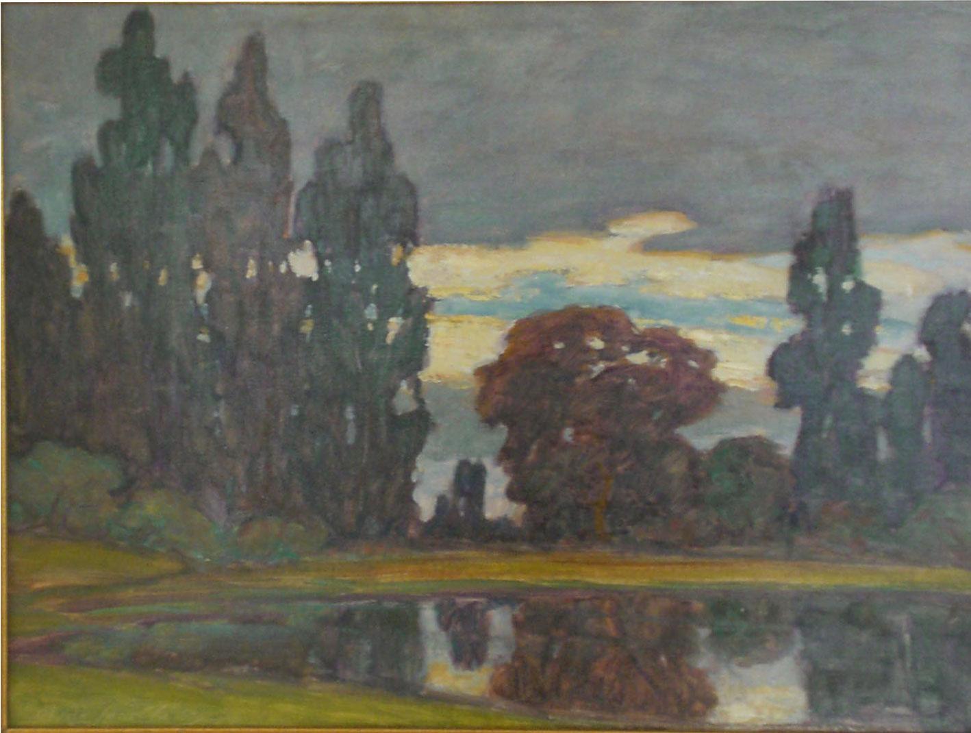 Sauvie Island , oil, 32x26 $6,000  Clyde Leon Keller
