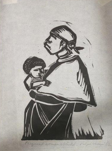 Pregnant Woman and Child , 8 x 10  Ralph Chesse