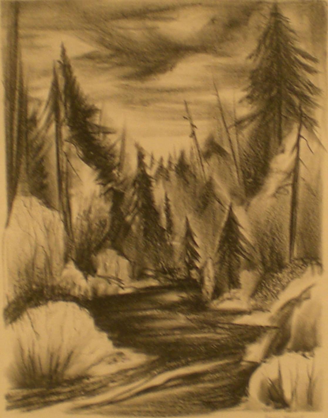 Oregon River , 19 x 22 ½  Jeanne Moment