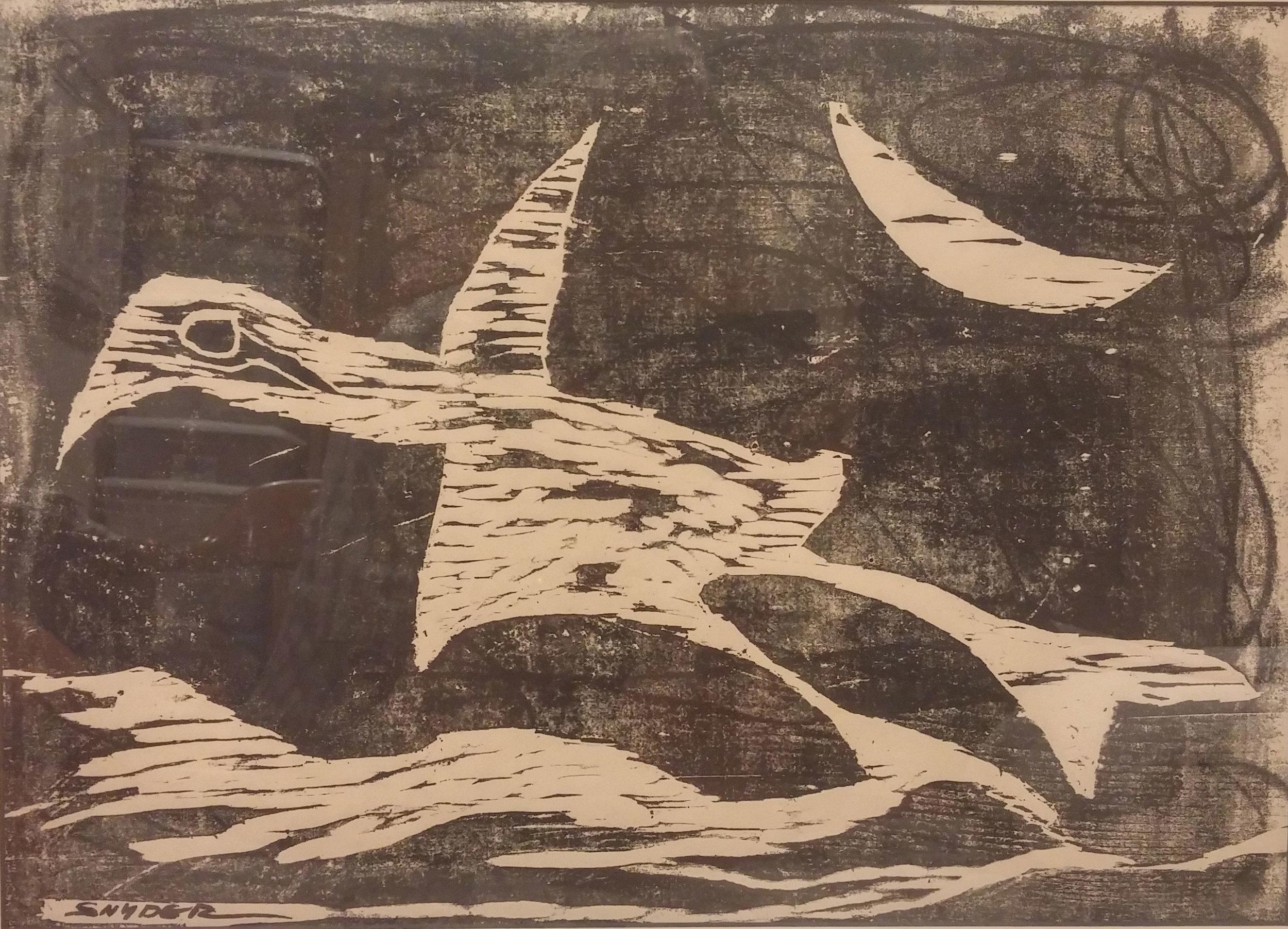 Night Bird,  signed print, 24x18 $250  Amanda Tester Snyder