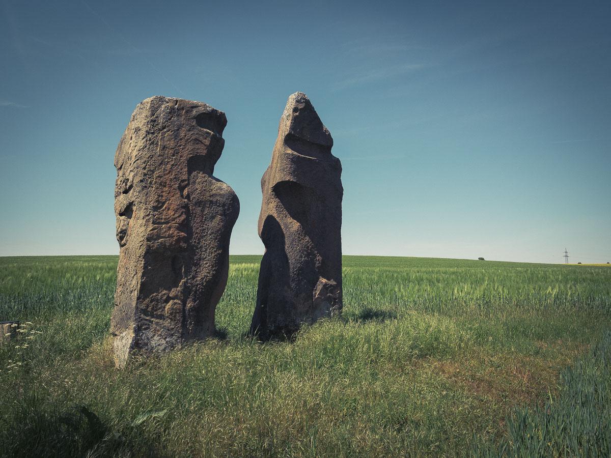 Steinskulpturen-Garten an der deutsch-französischen Grenze