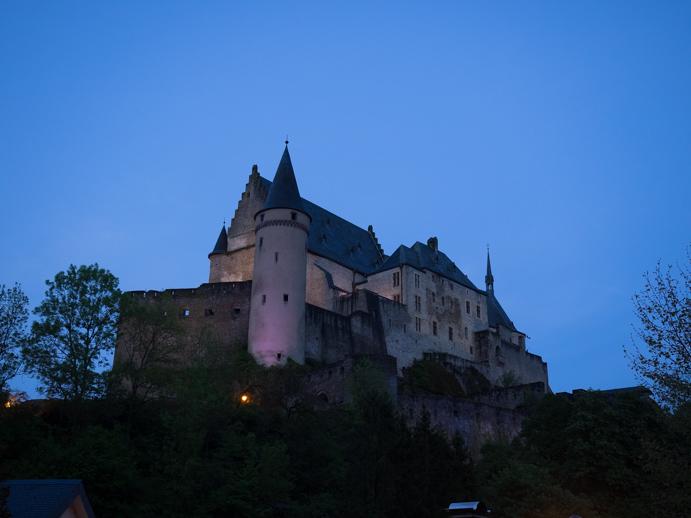 Burg in Vianden, Luxembourg