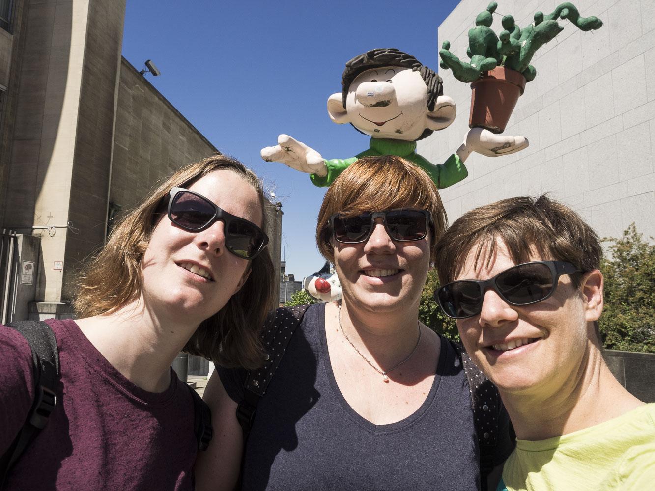 Unsere Freundin Rahel besucht uns in Brüssel