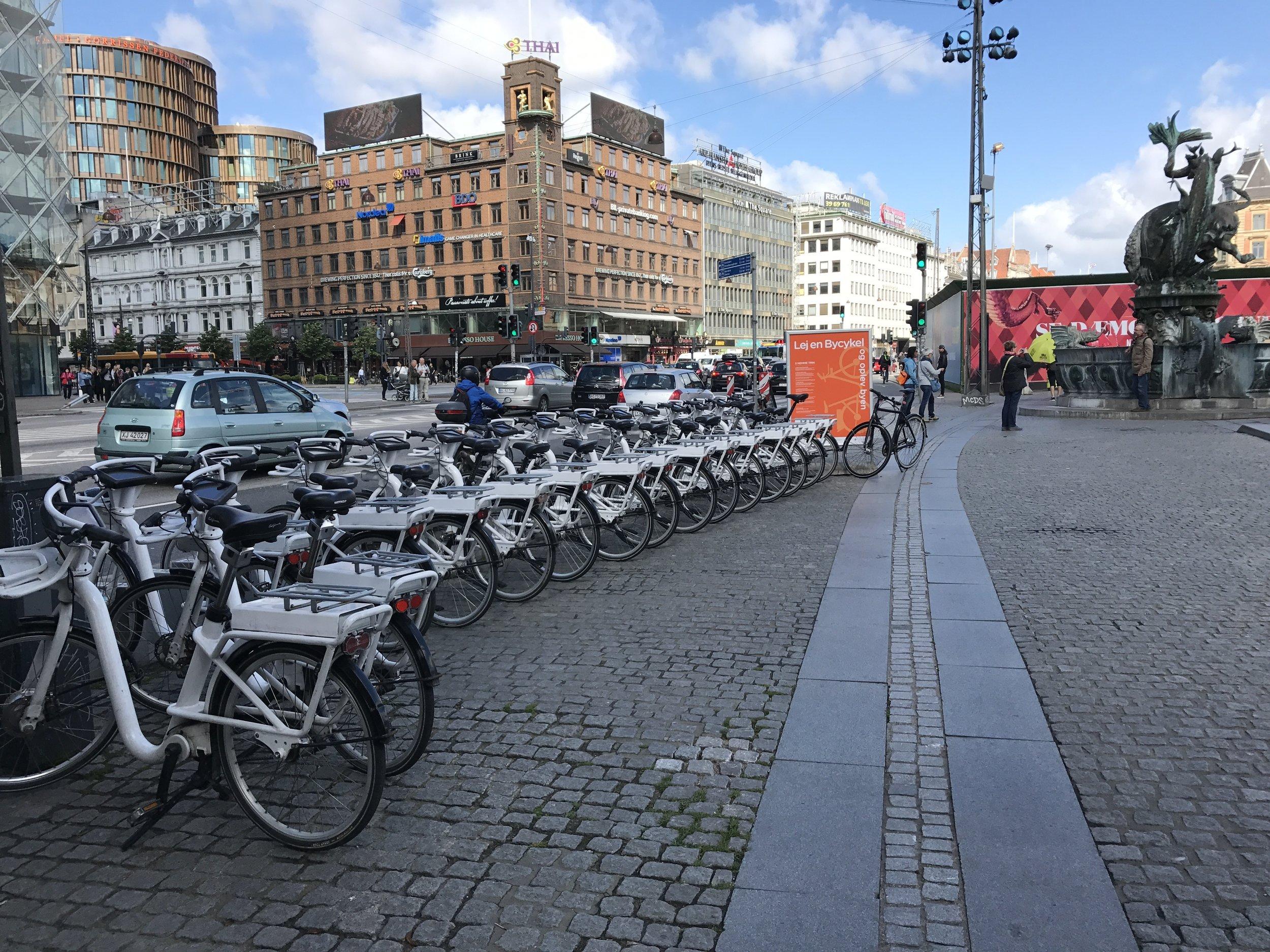E-Bike Station in Kopenhagen