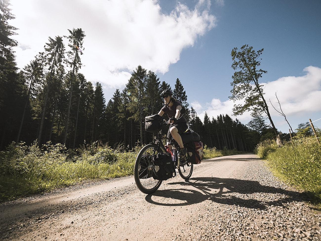 Wir geniessen die Landschaft Schwedens