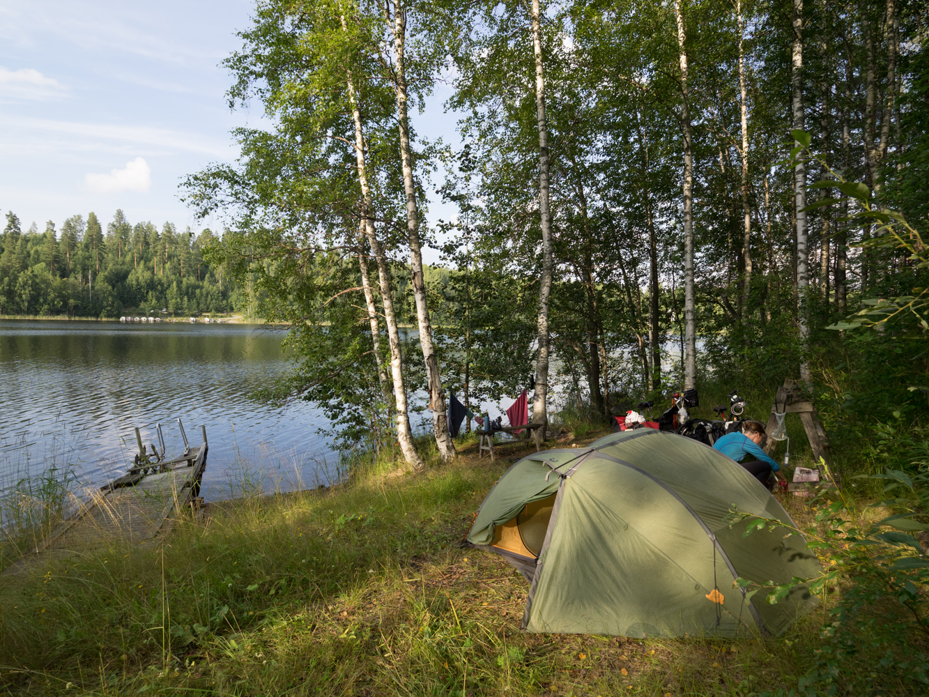 Der Campingplatz ist verlassen, soll uns jedoch nicht vom zelten abhalten