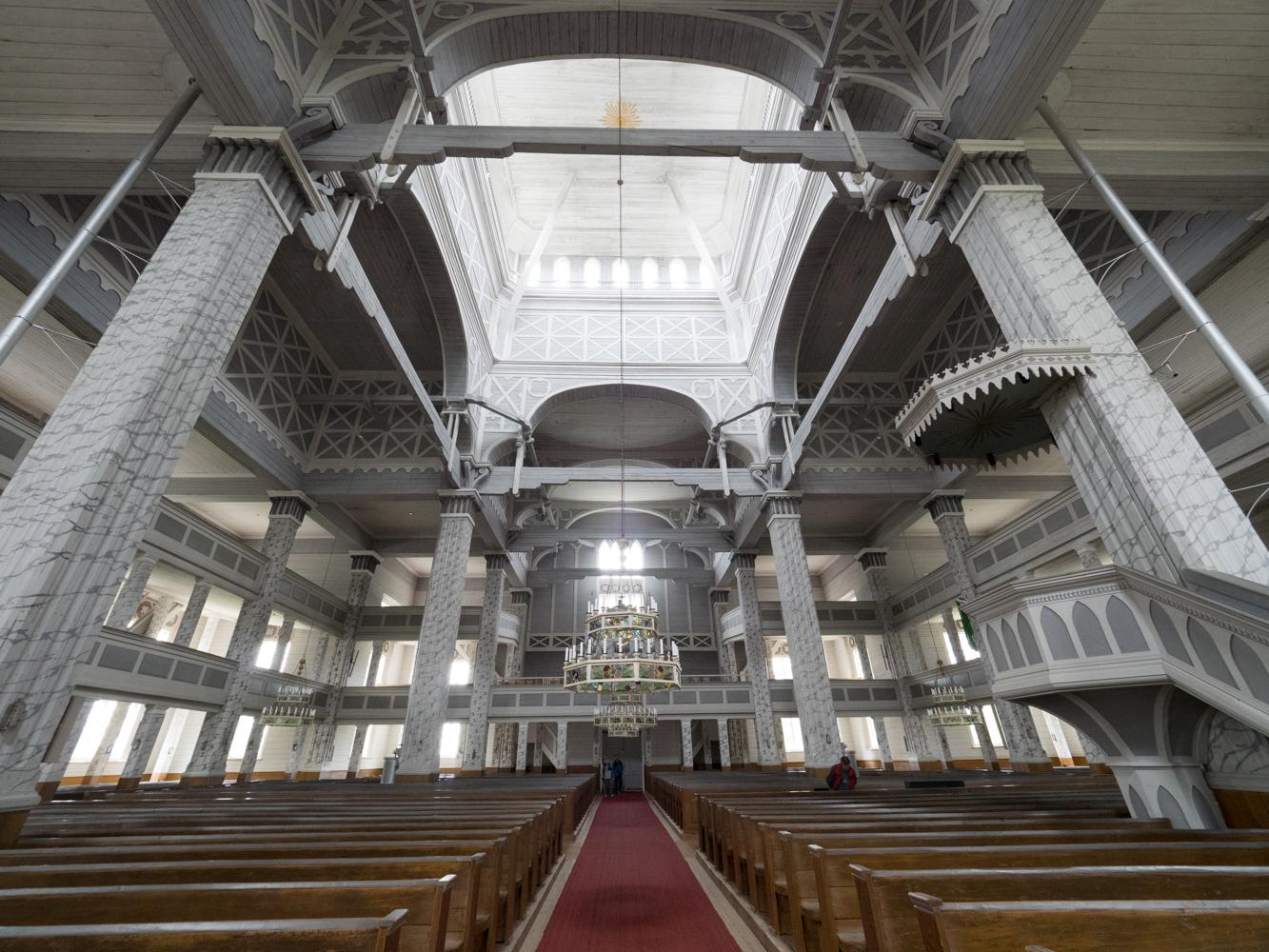 Die grösste Holzkirche Finnlands in Kerimäki