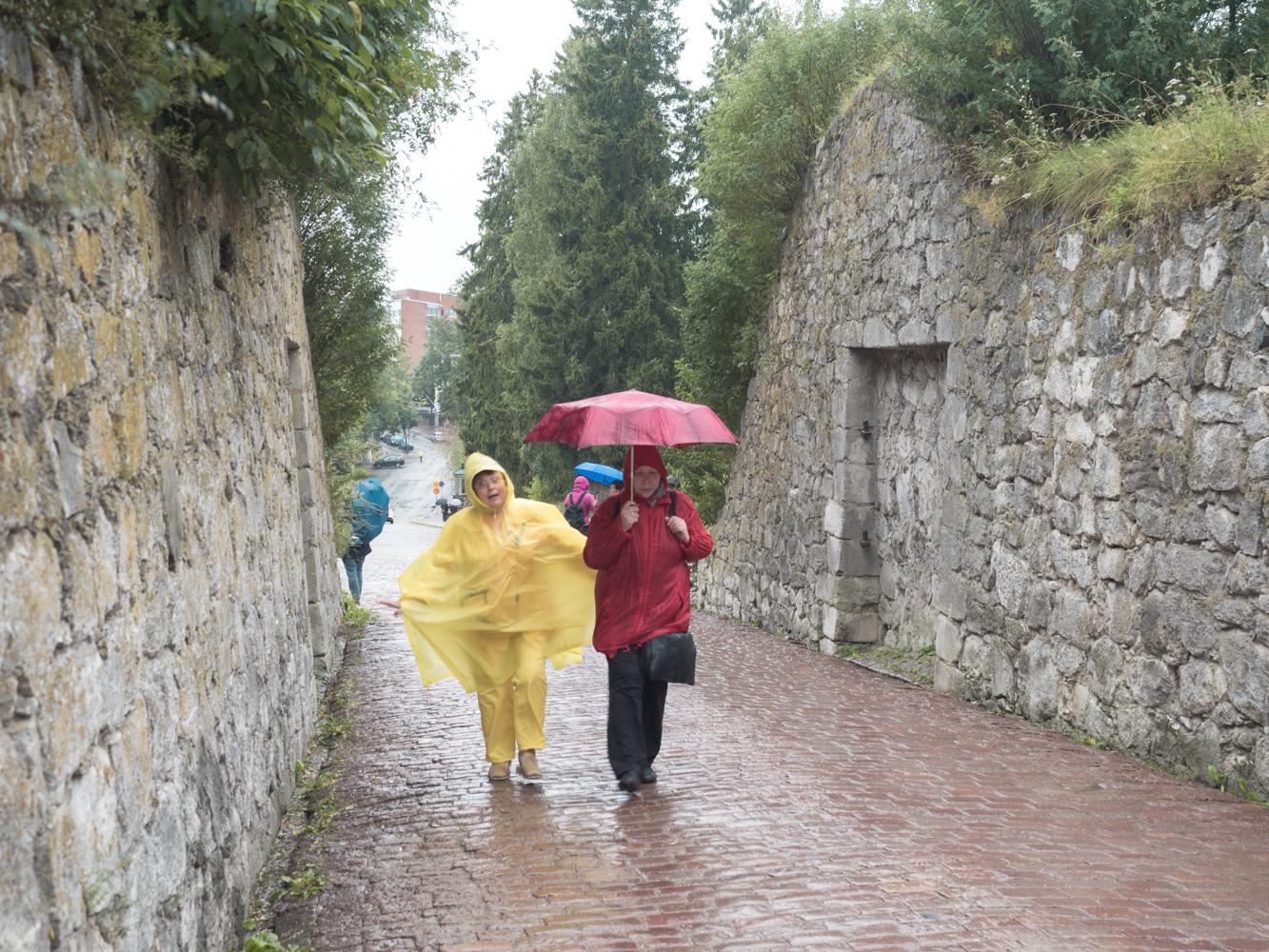 In der Altstadt Lappenrantas. Das Wetter wird allmählich schlechter