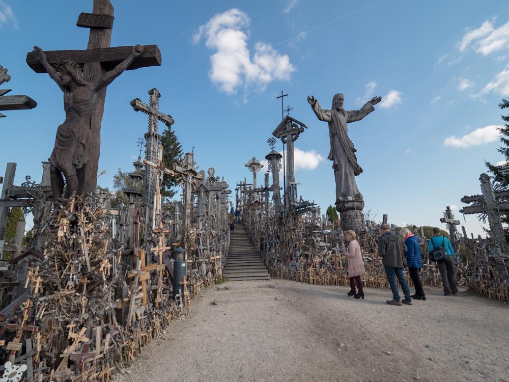 Berg der Kreuze in Siauliai, unheimlich...
