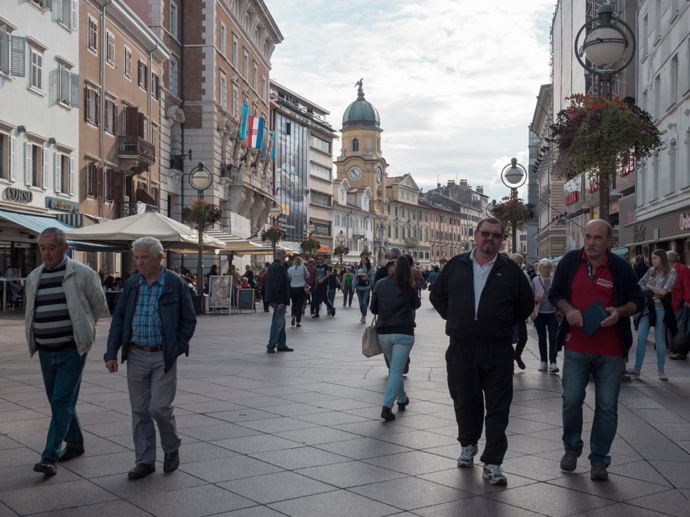 Spaziergang durch den Stadtkern von Rijeka