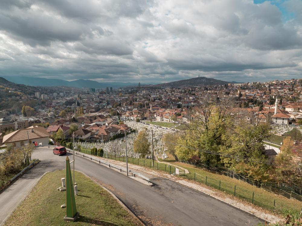 Aussicht auf die Stadt von der Zuta tabija, der alten Burg