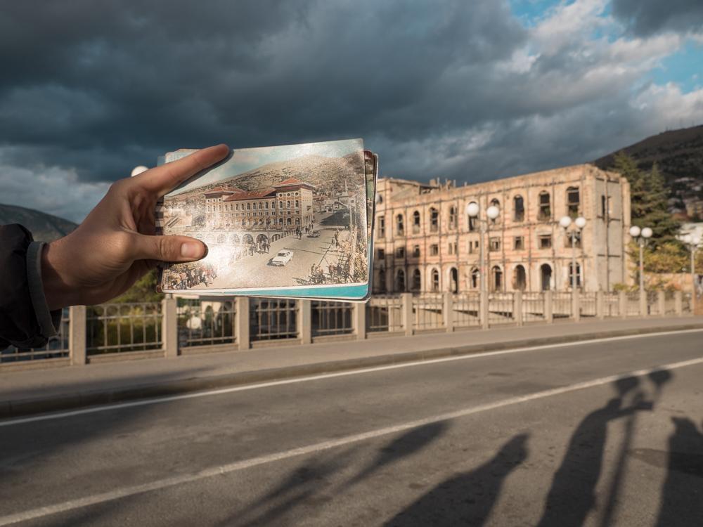 Das Hotel Neretva vor und nach dem Krieg