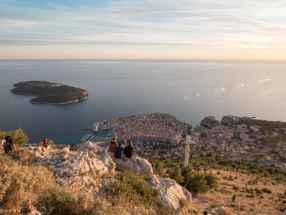 Wunderbare Weitsicht vom Hausberg Srb auf Dubrovnik