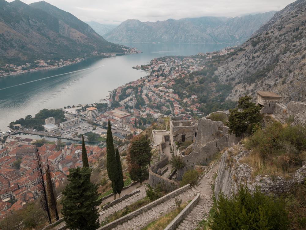 Die Aussicht auf Kotor