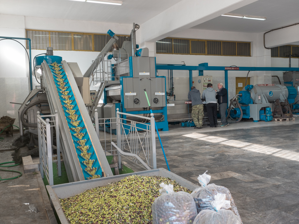 Hier werden Oliven zu Öl verarbeitet