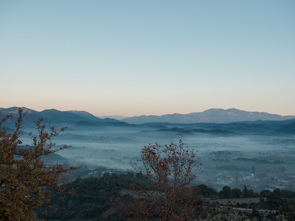 Nebelmeer unterwegs nach Olympia