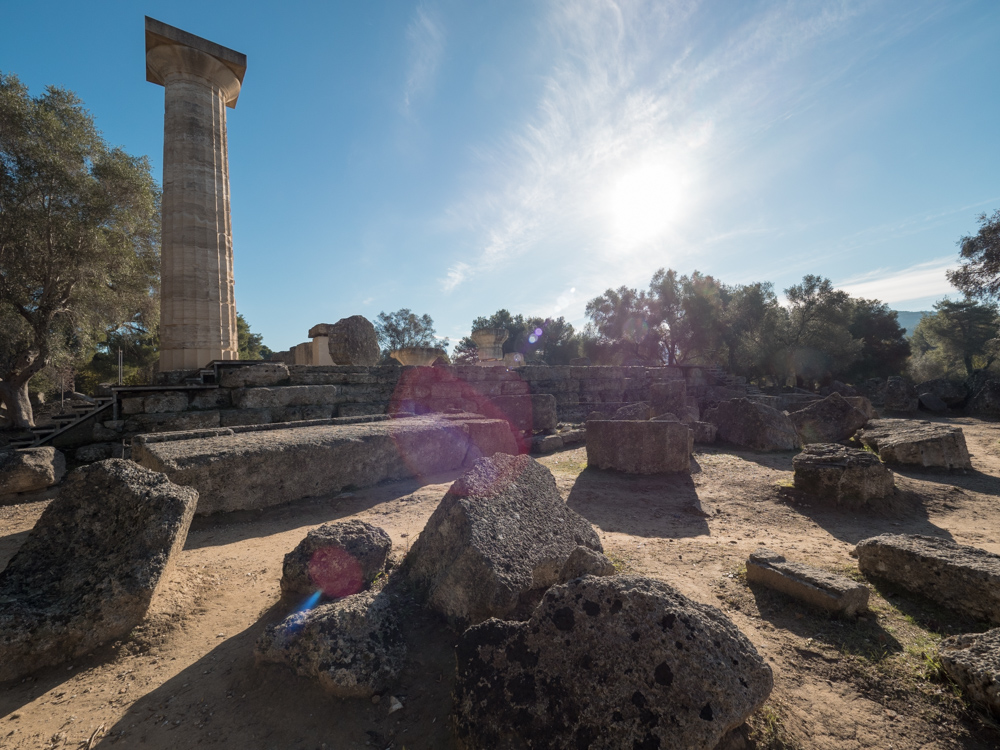 Der Tempel des Zeus
