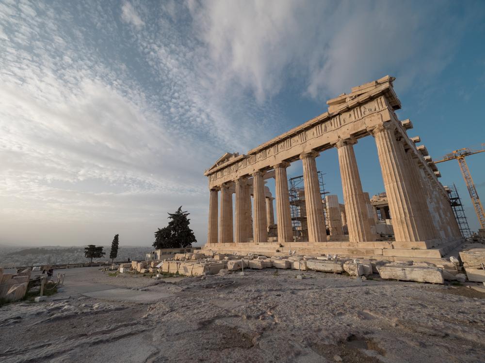 Das Pantheon auf der Akropolis von Athen
