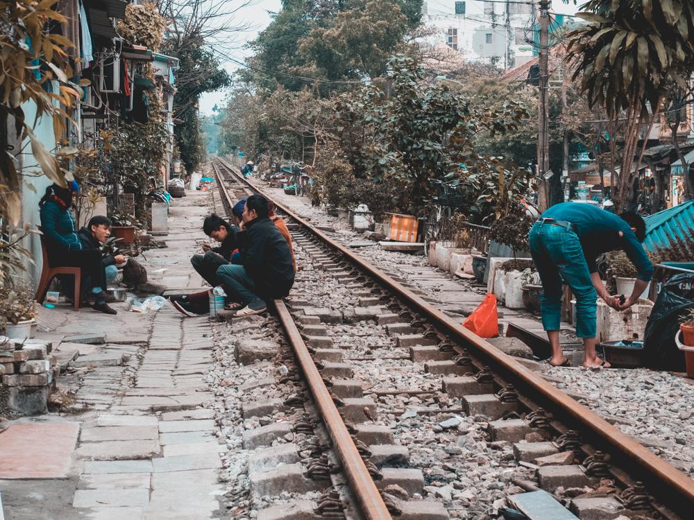 Der Zug in Hanoi fährt nicht so oft