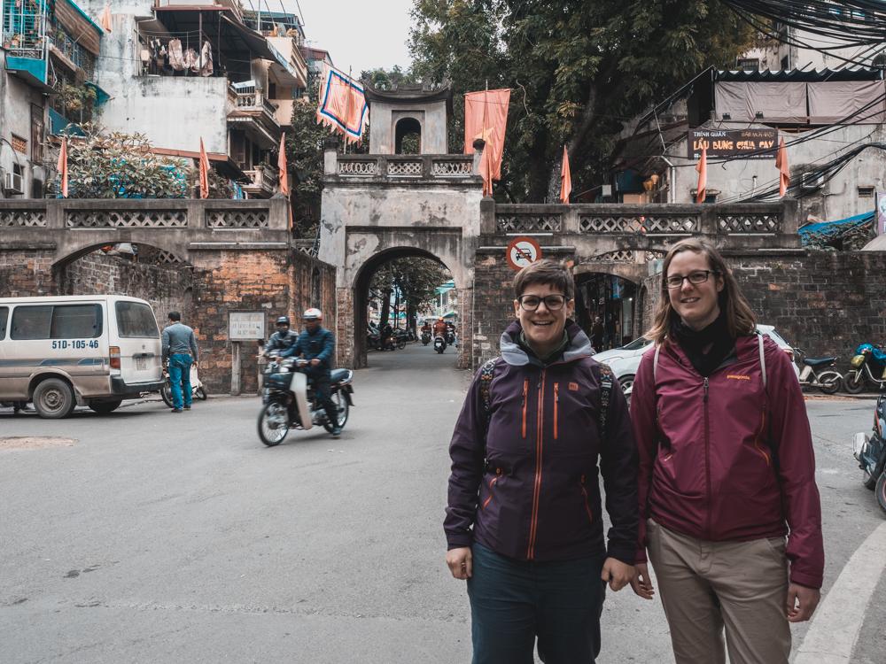Das letzte erhaltene Stadttor von Hanoi