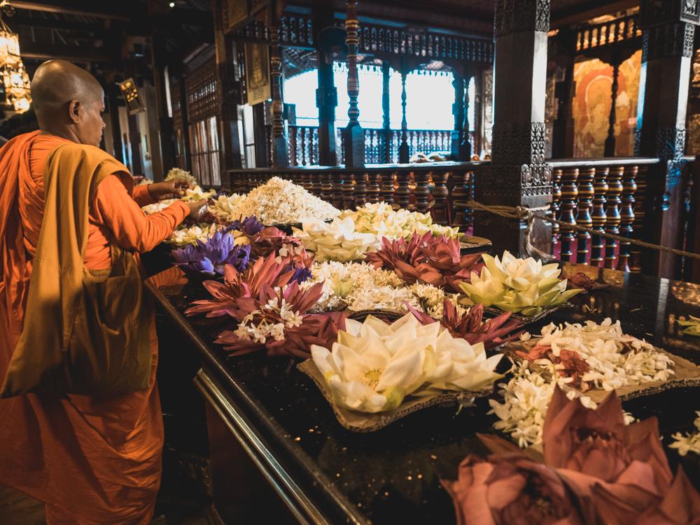 Im Zahntempel von Kandy