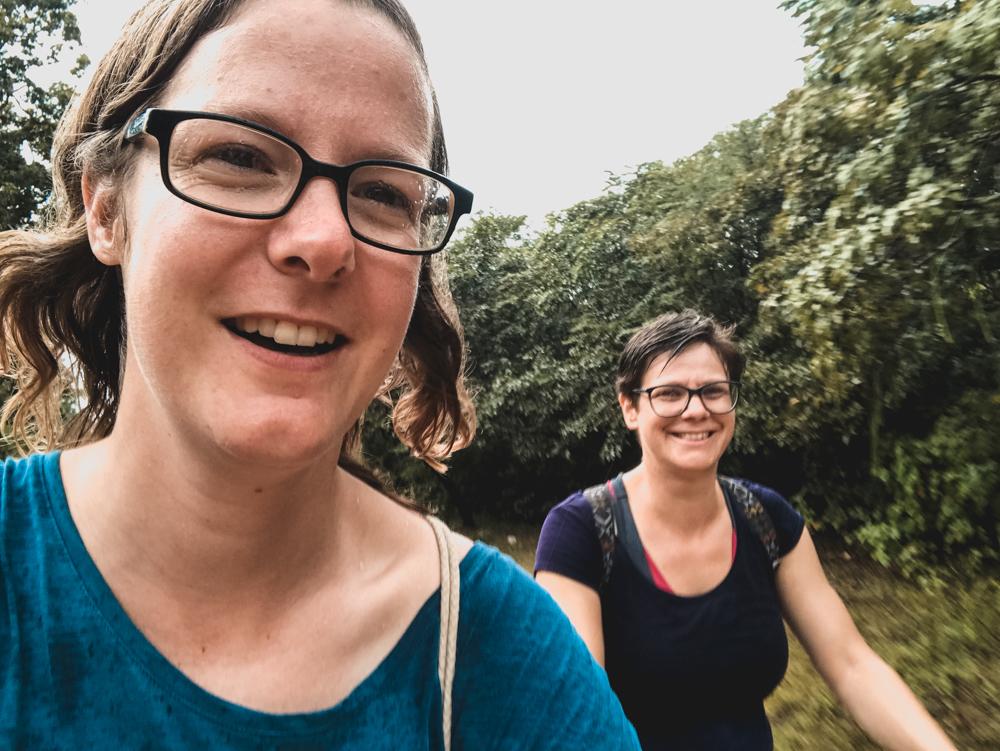 Nasse Tour durch die Ruinen von Polonnaruwa