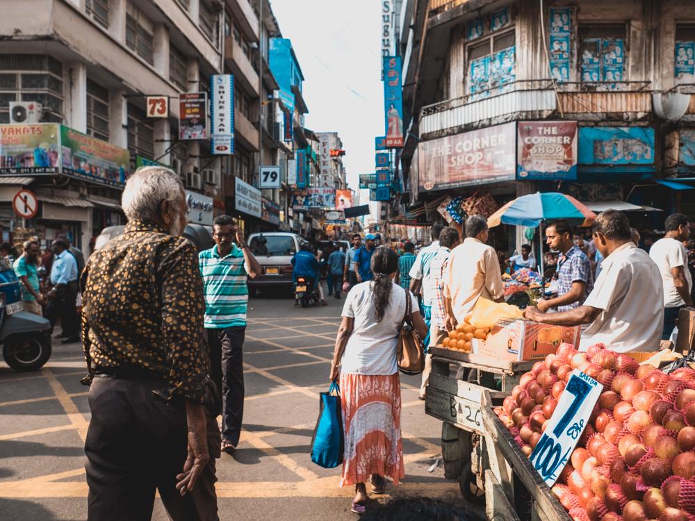 In den Strassen von Colombo