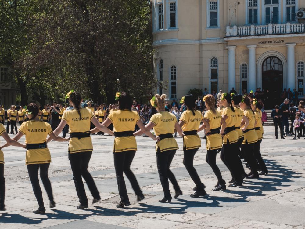 Traditioneller bulgarischer Tanz in Plovdiv
