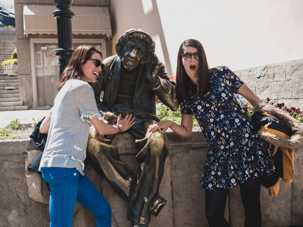 Die meistfotografierte Selfie-Statue, eine Legende