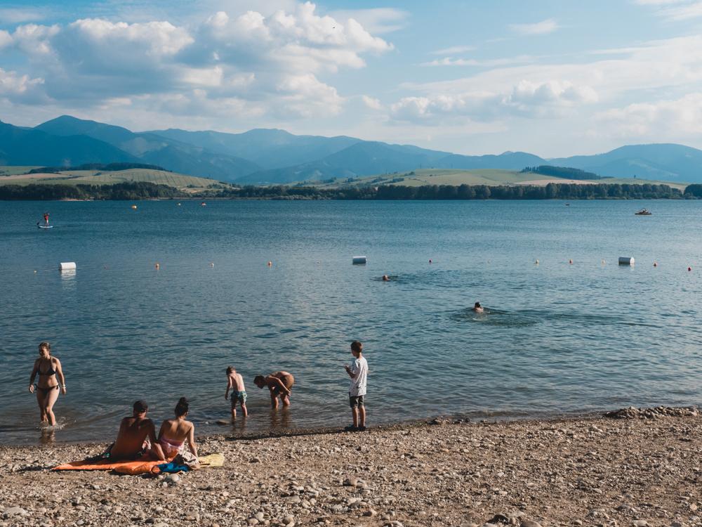 Nach den Bergen gibts eine Erfrischung im See